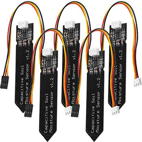 AZDelivery 5 x Bodenfeuchtesensor Hygrometer Modul V1.2 kapazitiv kompatibel mit Arduino inklusive E-Book!