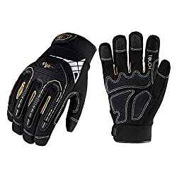 small Vgo 3 pair of high performance mechanic gloves, rigging gloves, anti-vibration, …