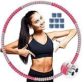 BOZHZO Hula Hoop Fitness, Professional Hula Hoop Adultos pérdida de Peso, 8 Secciones Desmontable y Ajustable, Material de Acero Inoxidable con Espuma, para Principiantes y Profesionales