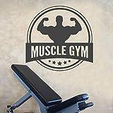 Muscle Gym Workout Bodybuilding Gewichte Übung Wandaufkleber Vinyl Abnehmbare Innen Dekoration...