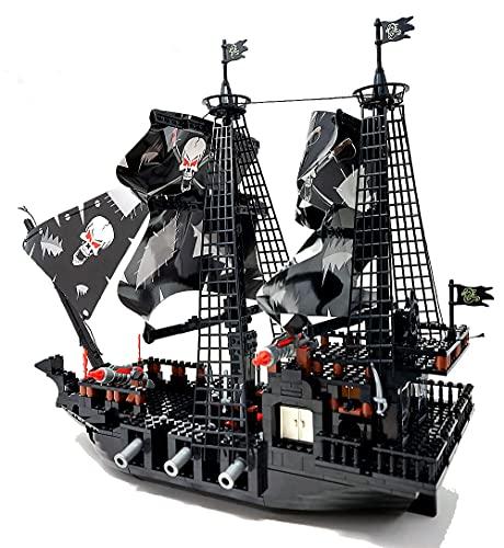 Barco pirata, juguete de construcción, 807 bloques de construcción