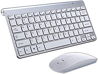 High Quality USB External Notebook Desktop Computer Universal Mini Wireless Keyboard Mouse, Style: Keyboard and Mouse Set ...