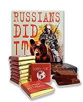 """面白いロシア人は食べ物 ☭ """"RUSSIANS DID IT"""" ☭ を食べましたか?いいジョークチョコレートセット! (熊)"""