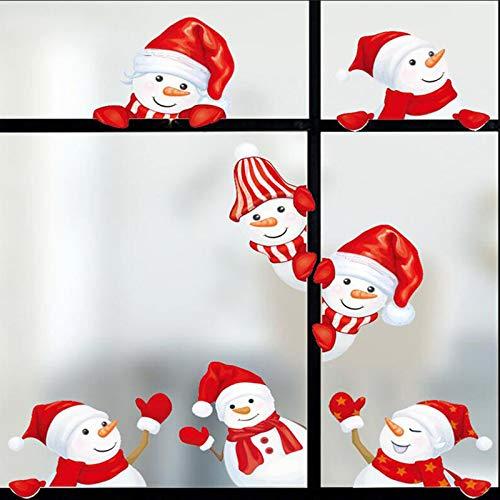Weihnachtsfenster Wandaufkleber Schneemann Selbstklebender Aufkleber Fenster Haftaufkleber Weihnachtsfensteraufkleber mit Schaber Weihnachtsfenster Dekorationen Aufkleber Weihnachtsfensteraufkleber