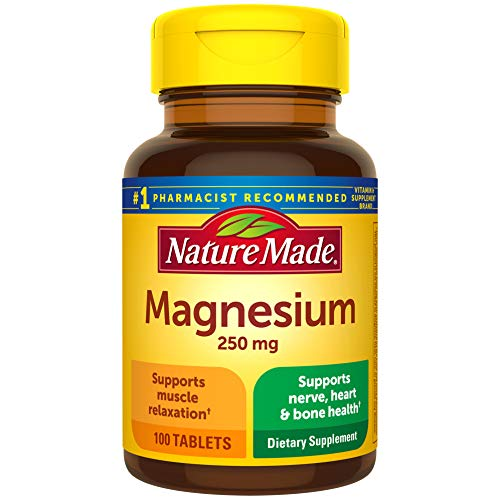 Nature Made Magnesium Oxide 250 mg Tablets, 100 Count for Nutrition Support