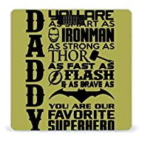 Novelty Daddy You Are Our Superhero 体重計 デジタル 電子スケール ヘルスメーター 電源自動ON/OFF バックライト付き 高精度ボディースケール コンパクト 電池式 薄型 収納便利 体重管理