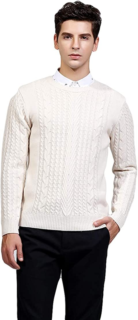 ICEGREY Mens Knit Sweater Pullover Crew Neck Slim Fit Sweater Tops