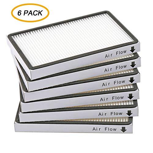 IOYIJOI 6-Pack 86889 Filters for Sears Kenmore Vacuums 20-86889, 40324, 53295 & Panasonic Uprights Vacuums MC-V199H