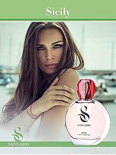 SANGADO Sicilia Perfume para Mujeres Larga Duración de 8-10 horas Olor Lujoso Chipre Frutal Francesas Finas Extra Con...