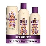 Aussie Haarpflege Set: 1x Repair Miracle Shampoo...