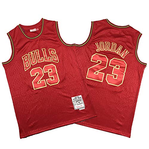 CNMDG Chicago Bulls 23# Jordán de Baloncesto Hombre Jordan, 2021 Temporada New Temporada Edición Red Limited Basketball Jerseys, Malla Baloncesto Swingman Jersey Top (S-X S