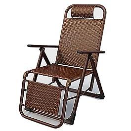 BBSC Fauteuil inclinable en rotin PE, Chaise Pliante extérieure réglable Portable, Fauteuil inclinable de terrasse de…