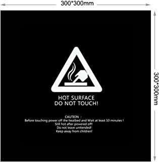 3D Printer Build Surface 300x300 220x220 mm Square Black for Creality CR-10S CR-10 Anet E12 A8 Wanhao i3 (Pack of 2) Eewolf (300X300)