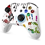 REDSTORM Wireless Pro Controller for Switch Remote Gamepad with Joystick, Adjustable Turbo Vibration/Screenshot/6-Axis, Compatible with Nintendo Switch/Switch Lite/PC,White.