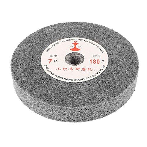 Uxcell a15051300ux0782 150mm Dia 25mm Thick 180 Grit Nylon Fiber Wheel Polishing Buffing Disc