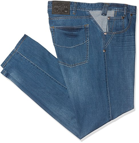Replika jeans Herren 99060 Loose Fit Jeans, Blau (Blue Used Wash 0597), W46/L30 (Herstellergröße: 46)