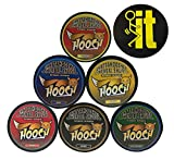 Hooch Herbal Snuff Variety Sampler Fine Cut 6 Cans with DC Crafts Nation Skin Can Cover - FIT Black