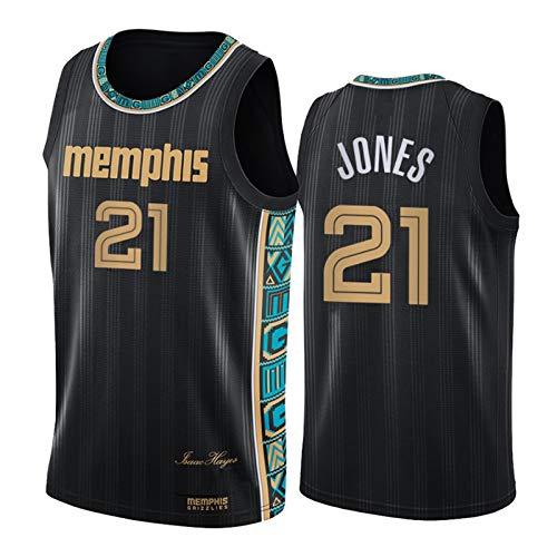 FGRGH #21 Jones - Camiseta de baloncesto para hombre, 2021 New Season Grizzlies Fans Jersey Chaleco, equipo de apoyo camiseta L (75 ~ 85 kg)