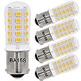 Bayshe 3W BA15S AC12V/DC12-24V S8 SC Bayonet Single Contact Base 1156 1141 LED Light Bulb 2700K Warm White,Landscape RV Camper Trailer Lighting-5 Pack