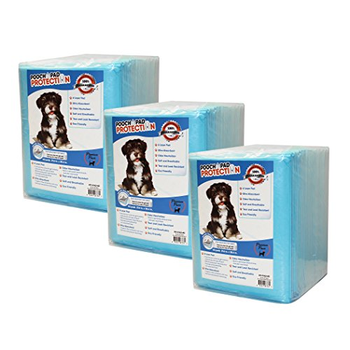 Pooch Pad Protection Dog Training Pads 120 Count, XX-Large, Absorbs Large Amounts of Liquid. Soft, Thick, Multi Purpose Pads for Pets, Kids, Adults, Male & Female Pads
