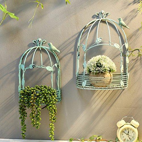 FENGFAN Rétro Fer Caravane Mur Montage Fleur Cadre Fleur Mur étagère décorative Jardin Jardin terrasse extérieure (Size : Medium)