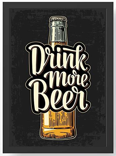Drink more Beer Bier Kunstdruck Poster -ungerahmt- Bild DIN A4 A3 K0097 Größe A3