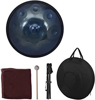 Muslady 9 Notes Hand Drum Handpan Carbon Steel Material Percussion Instrument with Carry Bag Metal Stand
