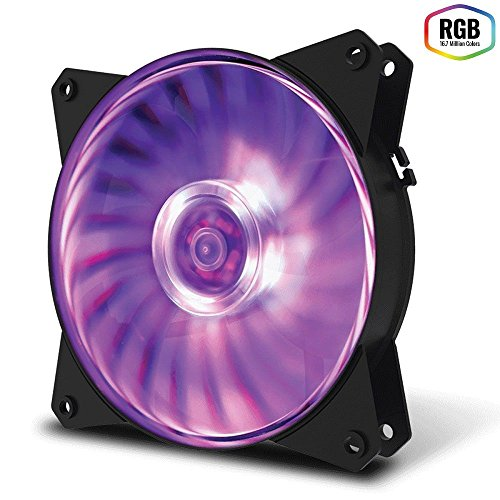Fan para Gabinete Masterfan 120Mm Mf120L Rgb R4-C1Ds-12Fc-R1, Cooler Master, 28641, COMPUTER_COMPONENT