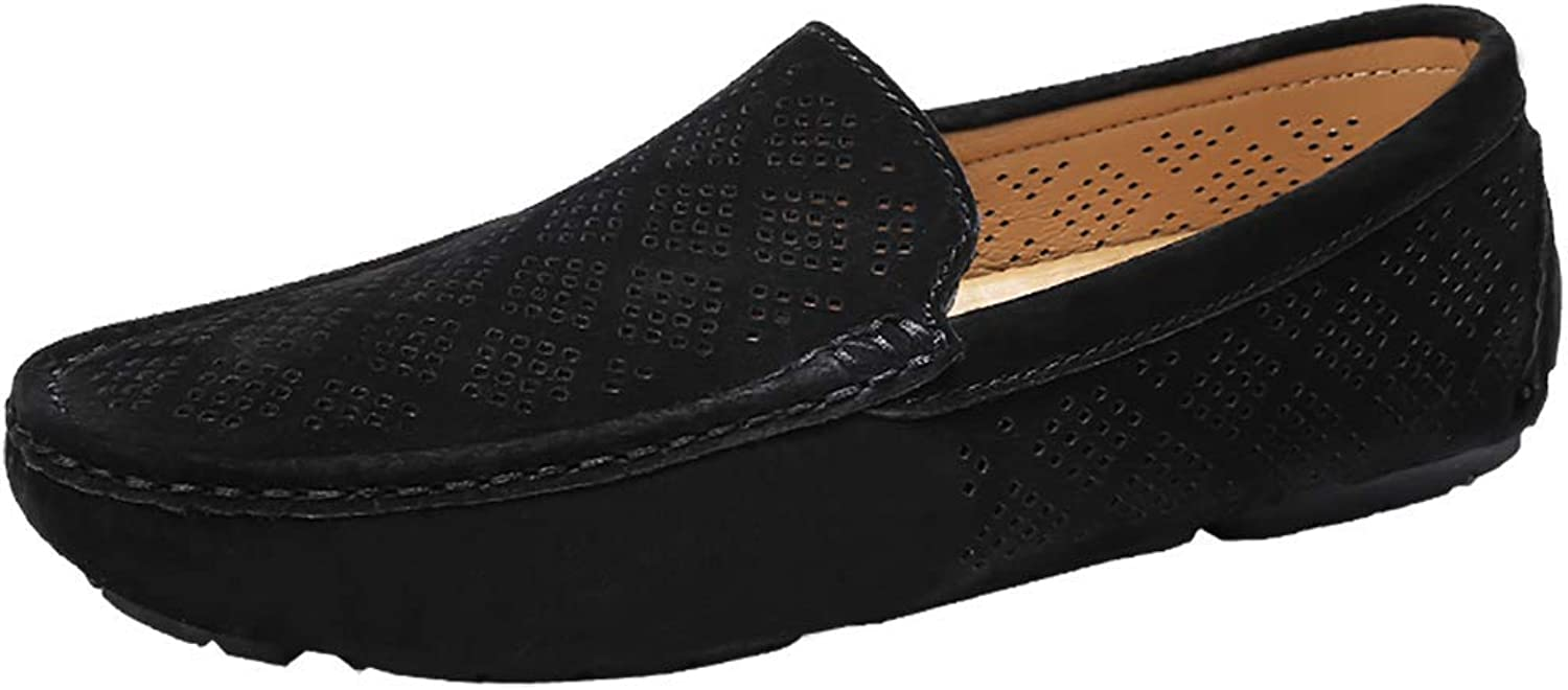 Men's Casual Flat Loafers,Breathable Beanie shoes Hand-sewn Slip-One Slip On Lou, empty Driving shoe Slip-Resistant Dress
