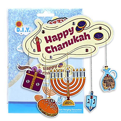 Chanukah Hanging Decorating Kit - Create Your Own Party Decorations - Hanukah Arts and Crafts - Gifts and Games by Izzy 'n' Dizzy