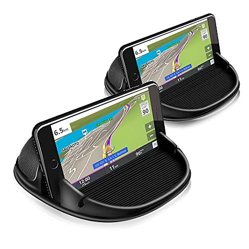 [2 Pack] Loncaster Dashboard Car Phone Holder Mount,Universal Cell Phone Automobile Cradles Stands Ultra Stable Slip Free Hands Free Car Accessories...