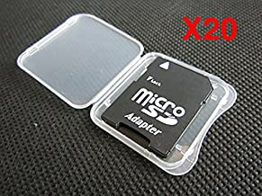20 Pack SD MMC / SDHC PRO DUO Memory Card Plastic Storage Jewel Case (memory card not included) (1 3/8