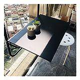 LIANGLIANG Mesa Colgante Plegable para Balcón, Exterior Ligero Plegable Café Escritorio, Ahorro de Espacio Retirable Ajustable Plataforma Mesa para Barandilla Gradas, Jardín (Color : Black)