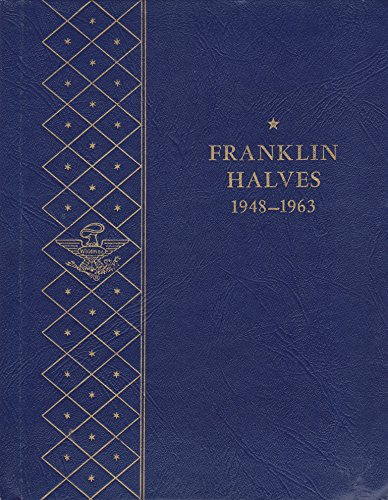 1948-1963 FRANKLIN HALVES COIN ALBUM No 9425 STAR ★ WHITMAN BOOKSHELF 36 COIN Album #8