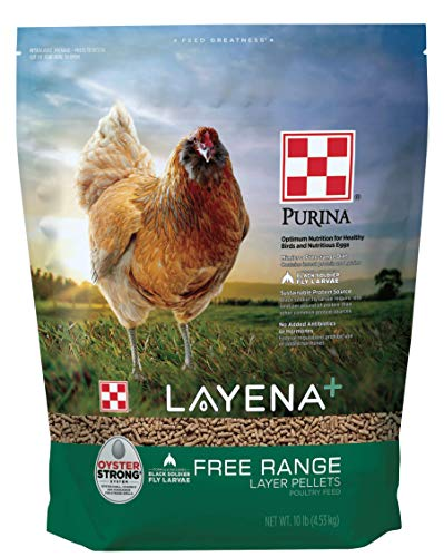 Purina Layena+ | Nutritionally Complete Free Range Layer Hen Feed | 10 Pound (10 lb) Bag