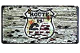 TGH (R66) Placa Decorativa Ruta 66 Route 66 USA (30x15cm). Decoración Pared hogar