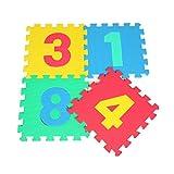 Fancy Citrouille 10pcs Bébé Puzzle emboîtables en Mousse Souple d'activité Gym Tapis de Jeu Ensemble de Tapis de Sol, Chiffres