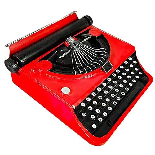 LUCKFY Schreibmaschine Modell - Dekoration Antike Schreibmaschine - Schmiedeeisen Dekoration - Nicht imstande, Worte Typ, für Shop Restaurant Cafe Fenster Requisiten Dekorationen,Rot