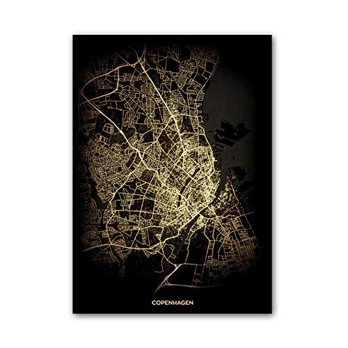 fsafa Copenhague Dinamarca Mapa Rompecabezas Desafiante Juego Educativo Intelectual Descompresión Juguete,En Casa,Bloqueo,Regalo...