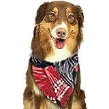 YAGEAD Pañuelo para Perros Cachorro y pañuelos para Mascotas, gráfico Acuarela Navidad Terrier escocés Negro con Sombrero Rojo Perro Mascota Invierno Bufanda para Mascotas