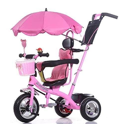 XHSLC Trikes Kids Baby Vervoer Kinderdriewieler Fiets 1-6 Jaar Oude Grote Baby Meisjes Auto 3-wieler (Kleur : Paars)