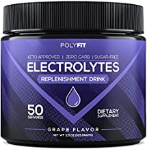 Electrolytes Powder   Sugar Free Electrolyte Replacement Supplement for Hydration   Keto Approved Electrolytes & Minerals Drink Mix   Grape Flavor