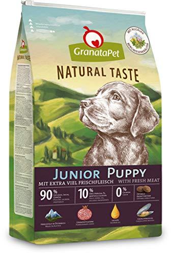 GranataPet Natural Taste Junior, Trockenfutter für Hunde, Hundefutter ohne Getreide & ohne Zuckerzusätze, Alleinfuttermittel für heranwachsende Hunde, 12 kg