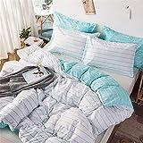 LUCHONG Juego de funda de almohada de 3 piezas, ultra suave y transpirable, funda de edredón con 2 fundas de almohada, juego de cama de 3 piezas para todas las estaciones, 229 x 229 cm