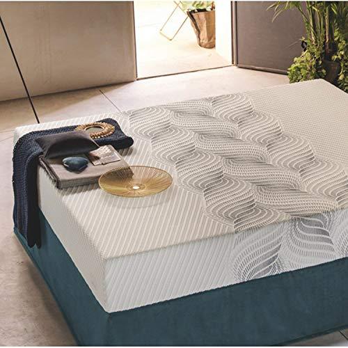 Materasso in Memory Breeze Pure 80x190 a 7 Zone di portanza differenziata, Altezza: 23cm, rigidità 8 su 10. SFODERABILE e Lavabile, Fodera in Tencel