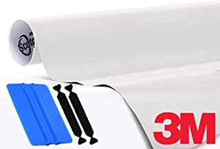 3M 1080 Satin Pearl White Air-Release Vinyl Wrap Roll Including Toolkit (1ft x 5ft)
