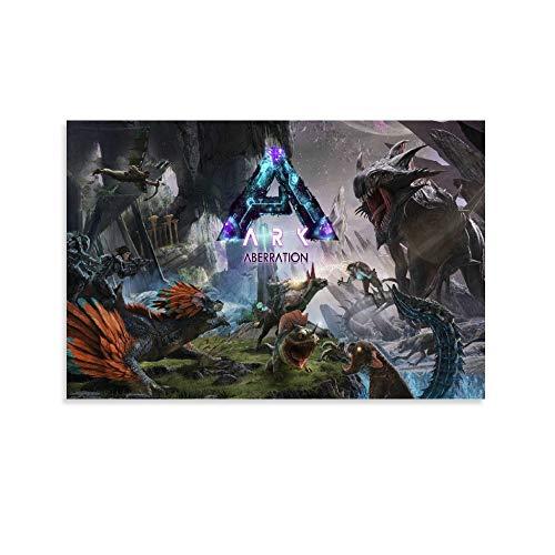 ASDUN Ark Survival Evolved Aberration Poster Dekorative Malerei Leinwand Wandkunst Wohnzimmer Poster Schlafzimmer Gemälde 30 x 45 cm