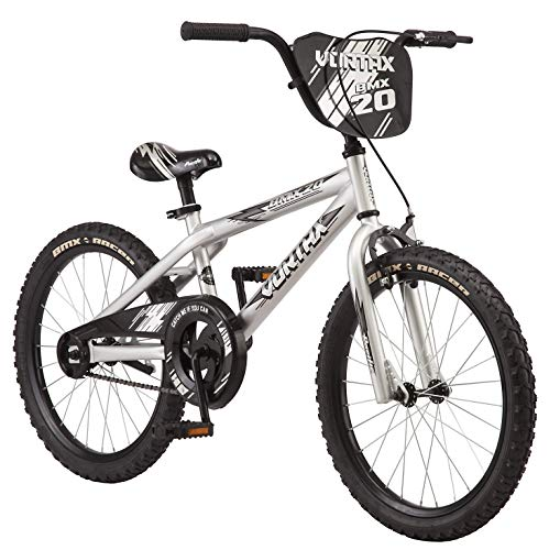 Pacific Cycle Vortax Kids Bike, 20-Inch Wheels, Silver (204054P)