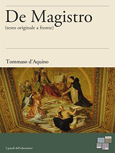 De Magistro (I Grandi dell'Educazione) (Italian Edition)