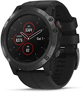 Garmin fenix 5X Plus, Ultimate Multisport GPS Smartwatch, Features Color Topo Maps and Pulse Ox, Heart Rate Monitoring, Mu...